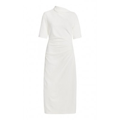 Acler Women's Tops Parkfield Draped Crepe Midi Dress White The Best