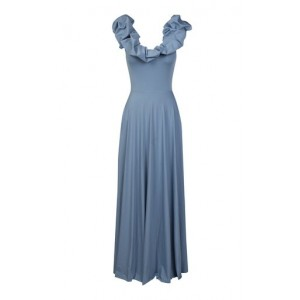 Maygel Coronel Women Clothing Exclusive Maria Reversible Lycra Maxi Dress Blue Plus Size New Look