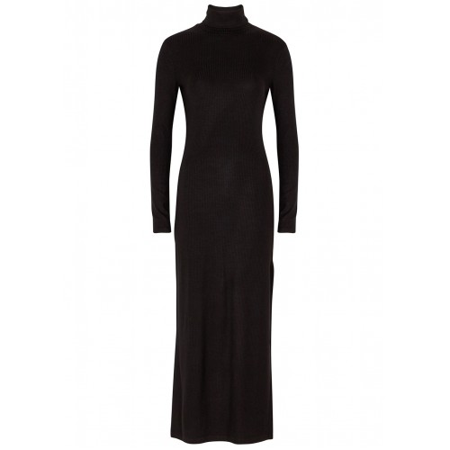 Ninety Percent Women's Black stretch-jersey midi dress Valentine's day On Sale SC423616