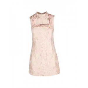Sandro Girl's Floral Mini Dress PALE PINK 1860's
