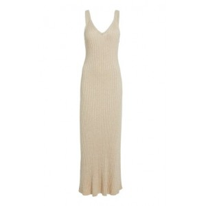 Significant Other Goldie Ribbed Knit Midi Dress White For Sale