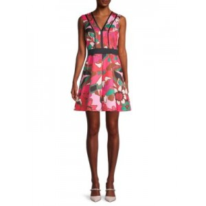 Ted Baker Girl's Clothing Floral-Print A-Line Skater Dress BRIGHT PINK 1860's