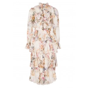 Zimmermann Women's Brighton floral-print silk-georgette midi dress Brand SC418030