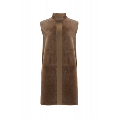 Gushlow & Cole Wool and shearling crombie gilet SC423563