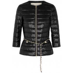 Herno Tops Icon black belted shell jacket Classic Fit SC379946