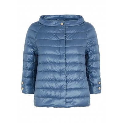 Herno Women Outwear Icon blue quilted shell jacket Brand New Look SC407121