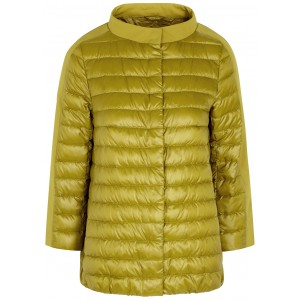 Herno Women's Outwear Jewel olive quilted shell jacket Winter SC433181