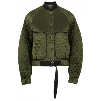 Lee Mathews Tops Carnaby army green quilted silk bomber jacket Brand SC426561