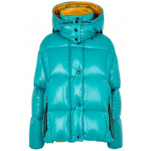 Moncler Women Parana turquoise quilted shell jacket Designer SC413310