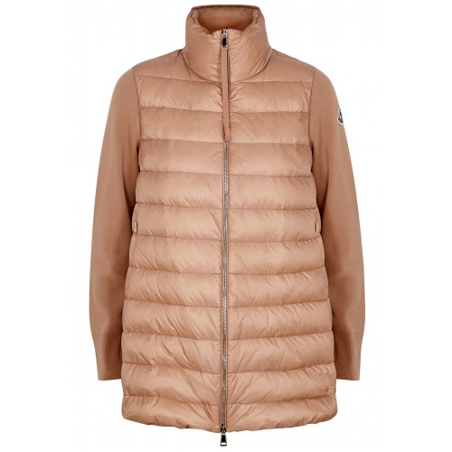 Moncler Women Tricot quilted shell and wool jacket SC403836