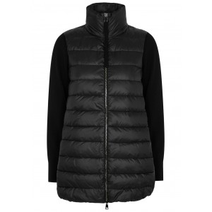 Moncler Women's Tricot quilted shell and wool jacket 3 Quarter New Look SC403837