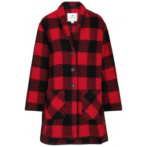 Woolrich Women Checked knitted jacket 3 Quarter SC360883
