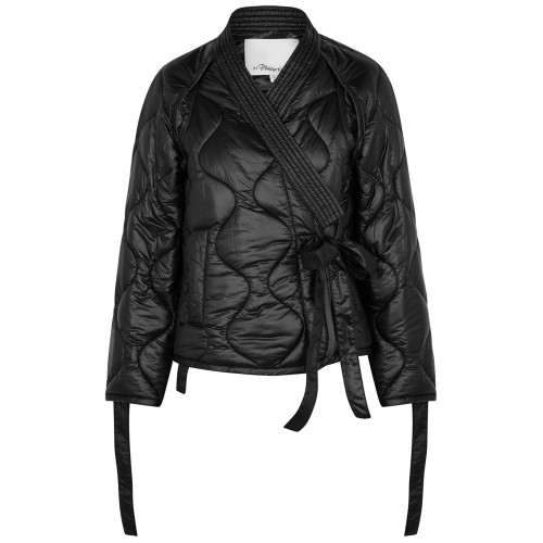 3.1 Phillip Lim Women's Tops Black quilted shell jacket SC419254