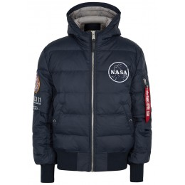 Alpha Industries Women Outwear Apollo 11 navy quilted shell jacket Plus Size SC293353
