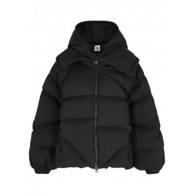 Bacon Women's Amedeo black quilted shell jacket SC418182