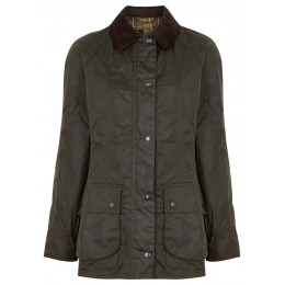 Barbour Tops Beadnell dark green waxed cotton jacket Good Quality SC412374