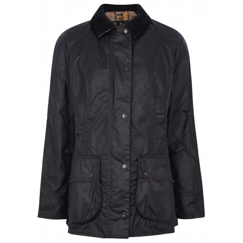 Barbour Tops Beadnell navy waxed cotton jacket Petite Online Sale SC412373