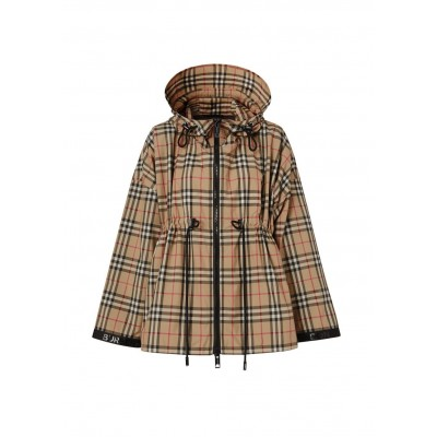 Burberry Girl's Logo tape recycled polyester hooded jacket Summer SC402865