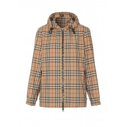 Burberry Women's Vintage check recycled polyester hooded jacket Winter Brand SC387600