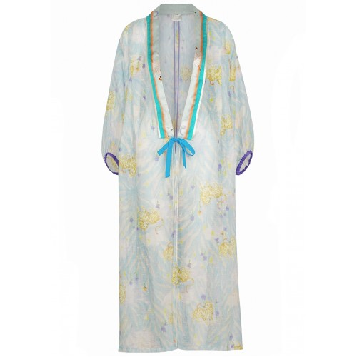 forte forte Women Clothing Printed linen and silk-blend jacket New Look SC436094