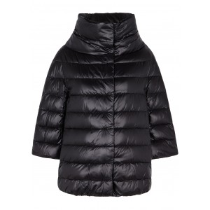 Herno Clothing Icon black quilted shell jacket Waterproof Online Shopping SC412113