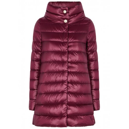 Herno Icon burgundy quilted shell jacket SC412117