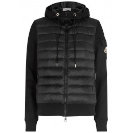 Moncler Women Black cotton-blend and quilted shell jacket Blazer SC424134