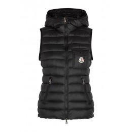 Moncler Women Clothing Glyco black quilted shell gilet Waterproof Designer SC429701