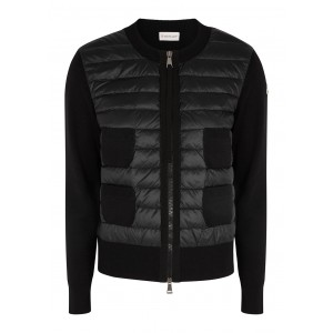 Moncler Women Tops Black wool and shell jacket Cute Brand SC429961