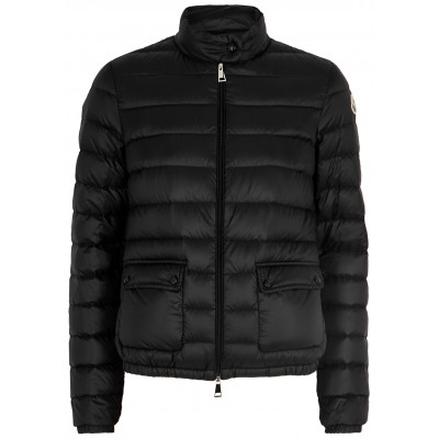 Moncler Women Tops Lans black quilted shell jacket SC424124
