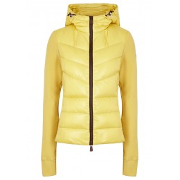 Moncler Women's Yellow quilted shell and fleece jacket SC406402