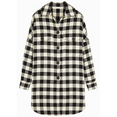 Palm Angels Girl's Monochrome checked cotton-blend overshirt SC436117