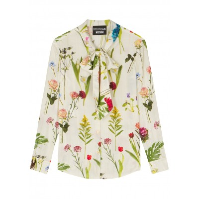 Boutique Moschino Women Cream floral-print blouse Everyday SC424787