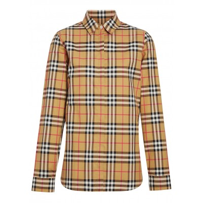 Burberry Tops Crow checked cotton shirt Base layer High Quality SC404938