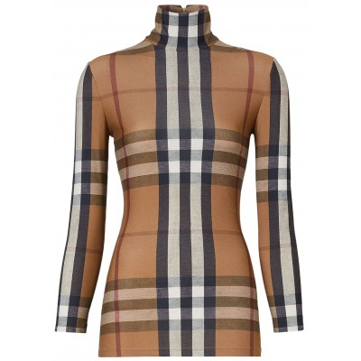Burberry Women Checked cotton top Athletic SC418129
