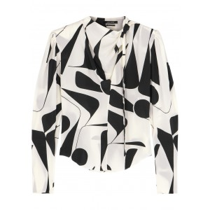 Isabel Marant Girl's Afavallia printed stretch-silk blouse Blouses for Work SC425654