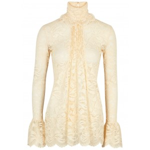 Paco Rabanne Women Cream stretch-lace top Base layer SC417508