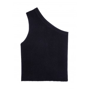 extreme cashmere N°108 Asymmetric one-shoulder cashmere-blend top Running SC432297