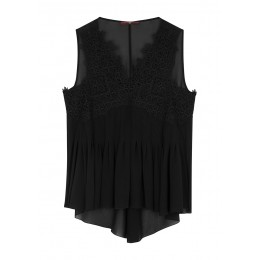 HIGH Women's Tops In Order black lace and chiffon top SC435828