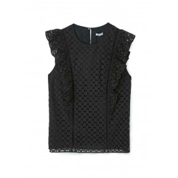Jigsaw Broderie ruffle detail top Athletic SC437445