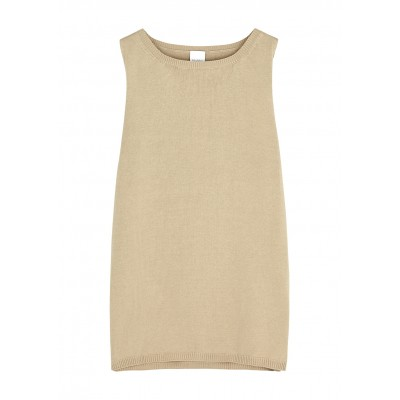 Max Mara Tops Leisure Nastie taupe knitted tank 2021 SC433080