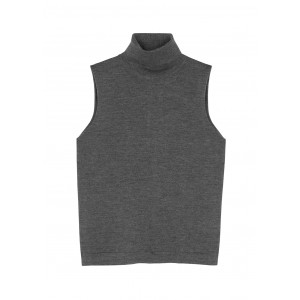 THE ROW Girl's Outwear Becca dark grey roll-neck cashmere-blend top Workout For Sale SC419613