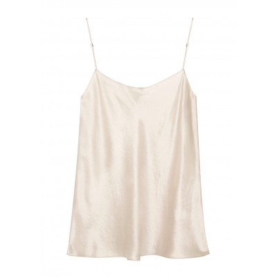 Vince Women Ivory hammered satin top Cycling jerseys SC388769