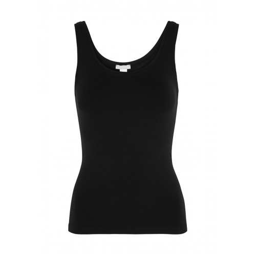 Hanro Girl's Touch Feeling black stretch-jersey tank Workout The Best SC372166