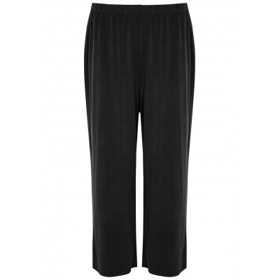 EILEEN FISHER Girl's Charcoal cropped stretch-jersey trousers Cycling Wholesale SC432310