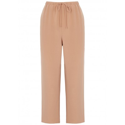EILEEN FISHER Girl's Dusky pink cropped silk trousers Size L SC394161