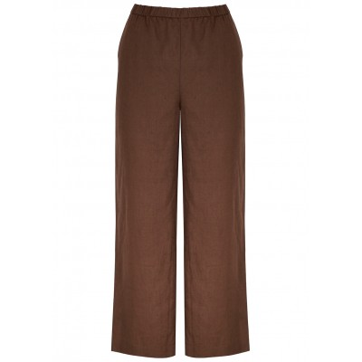 EILEEN FISHER Women Clothing Brown linen trousers Business SC404893