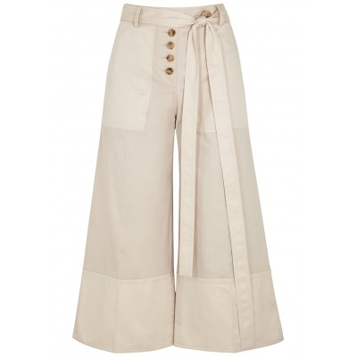 Eudon Choi Women Pants Nell cropped wide-leg twill trousers Business Brand SC424743