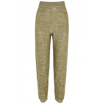 forte_forte Girl's Pants Lamé-weave knitted sweatpants Jogger SC431111