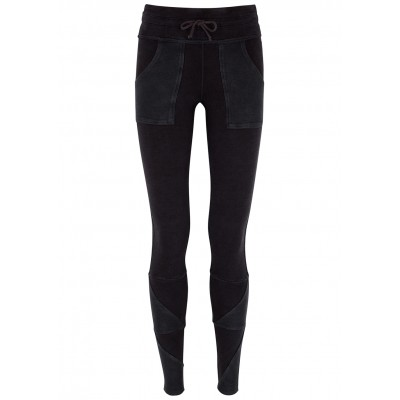 Free People Movement Girl's Kyoto faded black stretch-jersey leggings Jogger SC427594